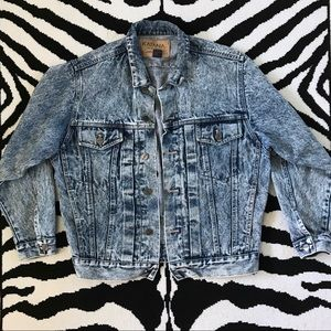 Vintage Oversized Acid Wash Denim Jacket